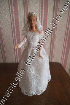 tuto gratuit barbie: robe de mariée pour tricoteuses presque débutantes                                                                                                                                                                                 Plus