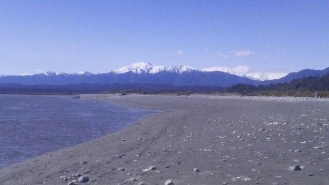 Mt Adams, Glacier Country. View from Okarito Beach