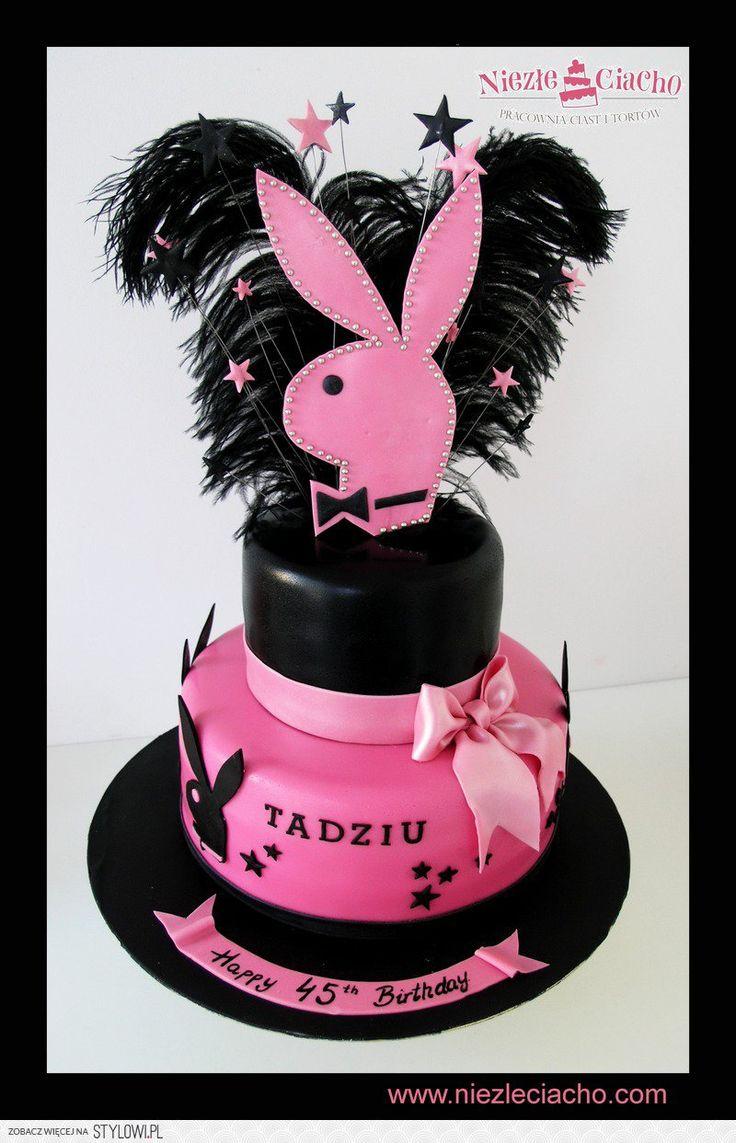 Króliczki, Króliczki Playboya, niezłe ciacho, torty dla dorosłych, torty urodzinowe, tort na wieczór kawalerski, biało-różowy tort, Tarnów
