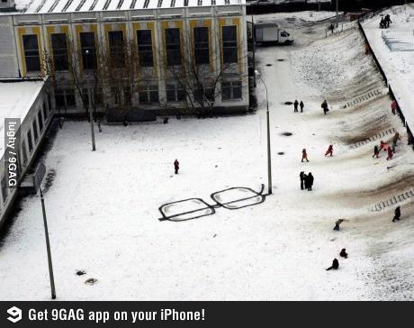 Snow glasses.