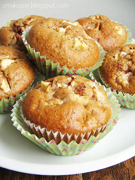 Smakocie i Łakołyki: Muffiny cynamonowe z jabłkami