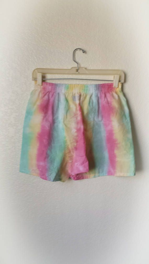 Small Striped Rasta Colored Tie Dye Boxers