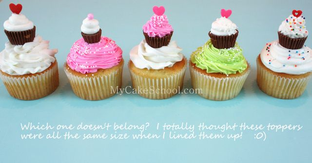 little cupcakes for cupcakes!