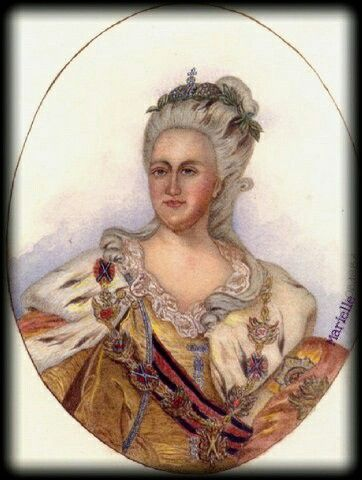"""Catherine II"",  watercolor"