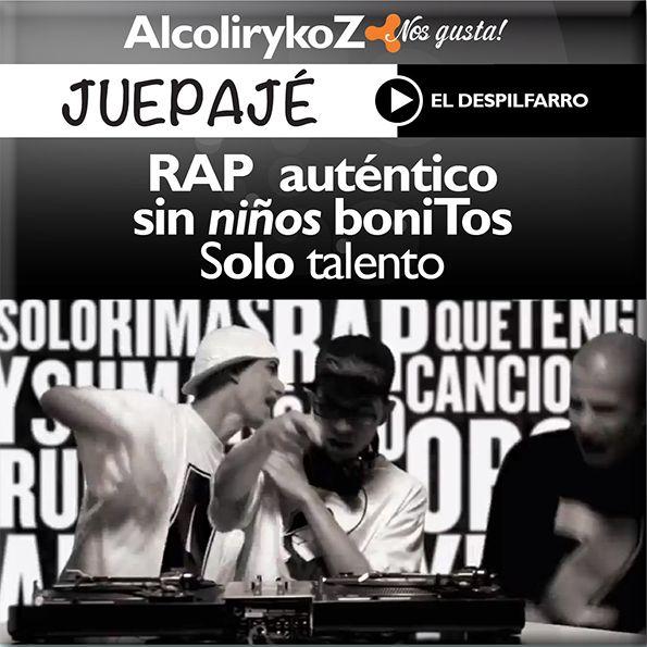 """Pilas con el """"#Rap aunténtico, sin niños bonitos, solo talento"""" de AlcolirykoZ."""