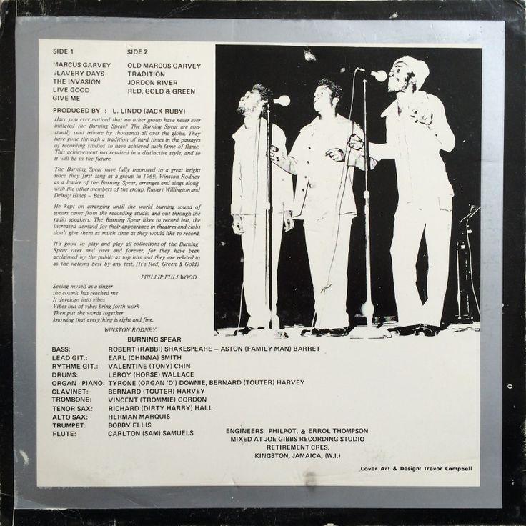 Burning Spear - Marcus Garvey (back cover)