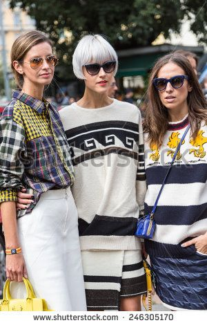 MILAN, ITALY - SEPTEMBER 17: Fashion blogger Linda Tol outside Gucci catwalk show as part of Milan Women's Fashion Week on SEPTEMBER 17, 2014 in Milan.