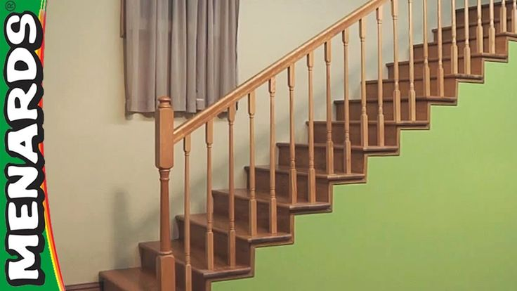how to install your own railing installing stair rails menards rh pinterest com
