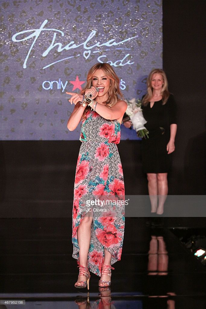 Singer Thalia attends the official launch of The Thalia Collection at Macy's Victoria Gardens on March 28, 2015 in Rancho Cucamonga, California.