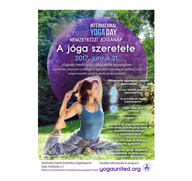 Ingyenes nyílt Nemzetközi Jóganap események a győri Spirituális Extázis Ezoterikus Jógaközpont szervezésében. 2017.06.21 (Győr, Kisfaludy utca 2). https://www.facebook.com/tantra.yoga.gyor #Tradicionális #jóga #yoga #hatha #tantra #integrál #meditáció #önismeret #felszabadulás #megvilágosodás #Győr #önfejlesztés #nemzetközi #jóganap