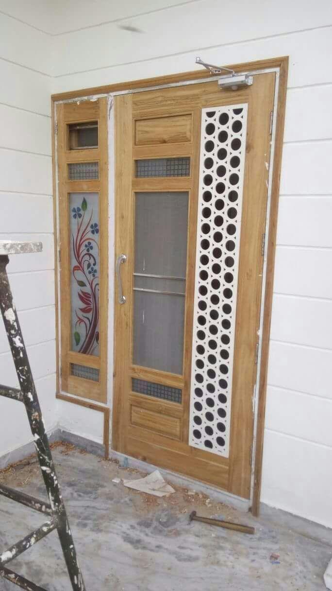 Net Door Design For Holes Design Door Holes Net Netwoodendoordesign Door Design Interior Wooden Front Door Design Front Door Design Wood