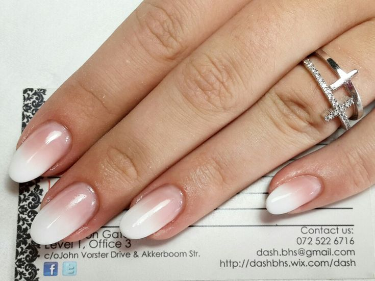 I love the French ombre, but I HATE the almond shape! Stick with flat square tips with a slightly rounded edge.