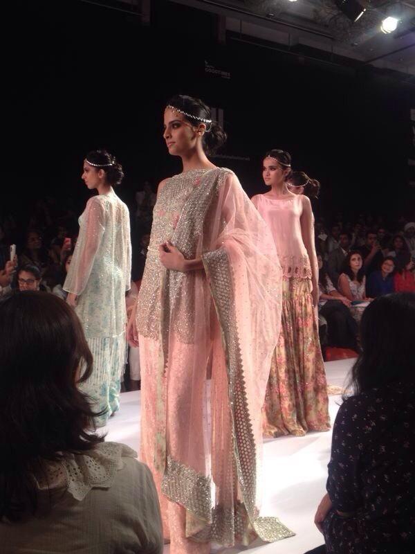Zara Shahjahan @zarasaif https://www.facebook.com/zarashahjahan Pakistan @ Lakme Fashion Week Winter/Festive 2014