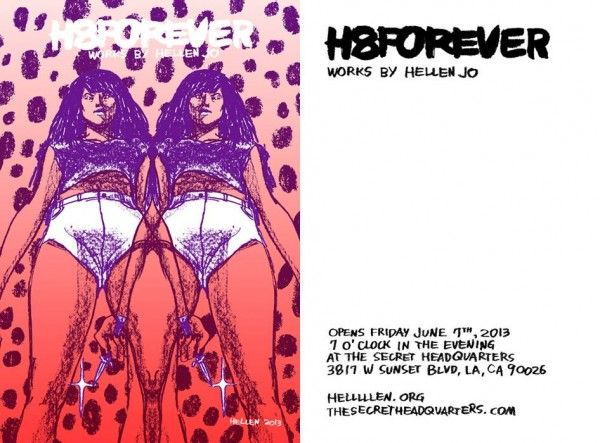 Everyone please plan to go to the above Hellen Jo show, because her work is really potent and funny and I think under-appreciated.: Comic Reports, Hellen Jo