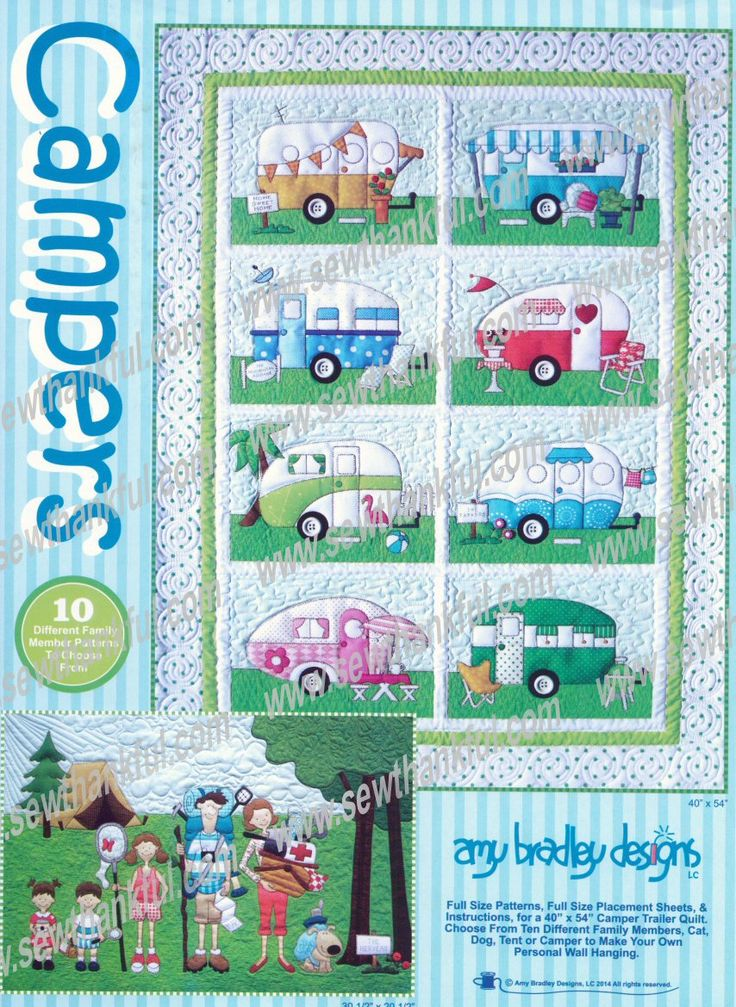 INTRODUCTORY SPECIAL...Campers Quilts - quilt pattern by Amy Bradley Designs | Vintage Campers ...