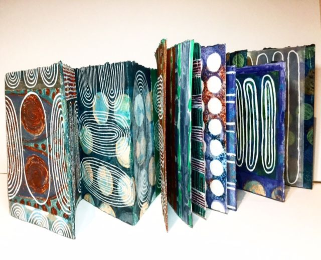 Recent Concertina Book sent to Newcastle Art Gallery, NSW for group textile show on late November through till February. WEB: http://sophiemunns.weebly.com
