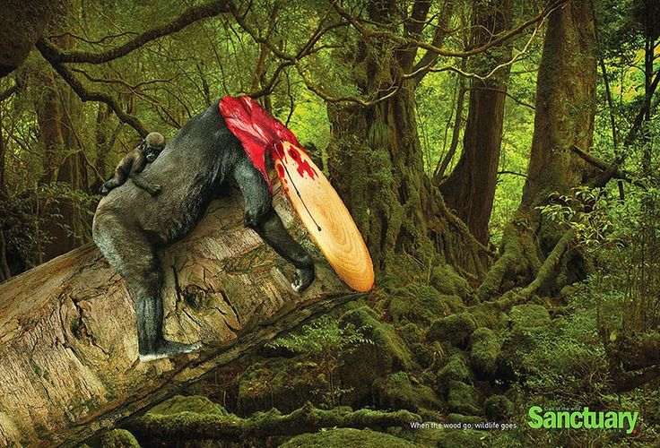 The Shocking Effects Of Deforestation Come To Life In Brutal Print Ads