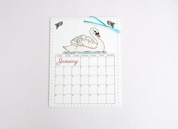 2014 Calendar  large wall calendar 2014 Mix V in by OliveandRuby, $15.00