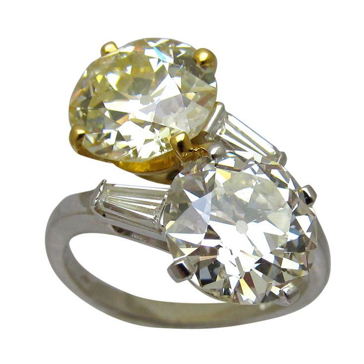 bulgari crossover fancy yellow diamond ring