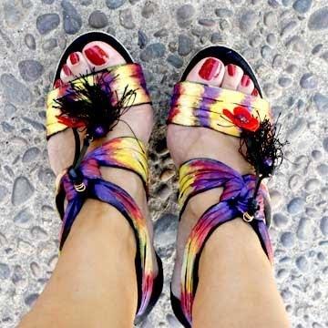 Sandals costumized by Marisa Silva