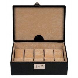Cutie 10 ceasuri, din piele naturala
