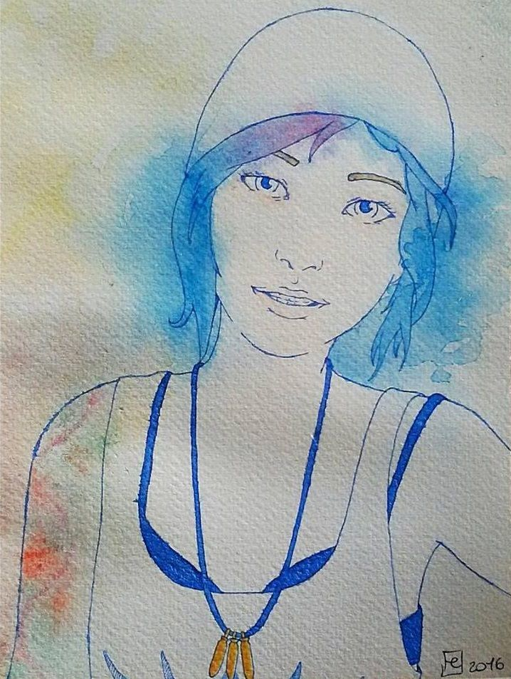"""""""Max Caulfield... Don't you forget about me""""  #lifeisstrange #lifeisstrangefanart #fanart #ChloePrice #watercolor"""