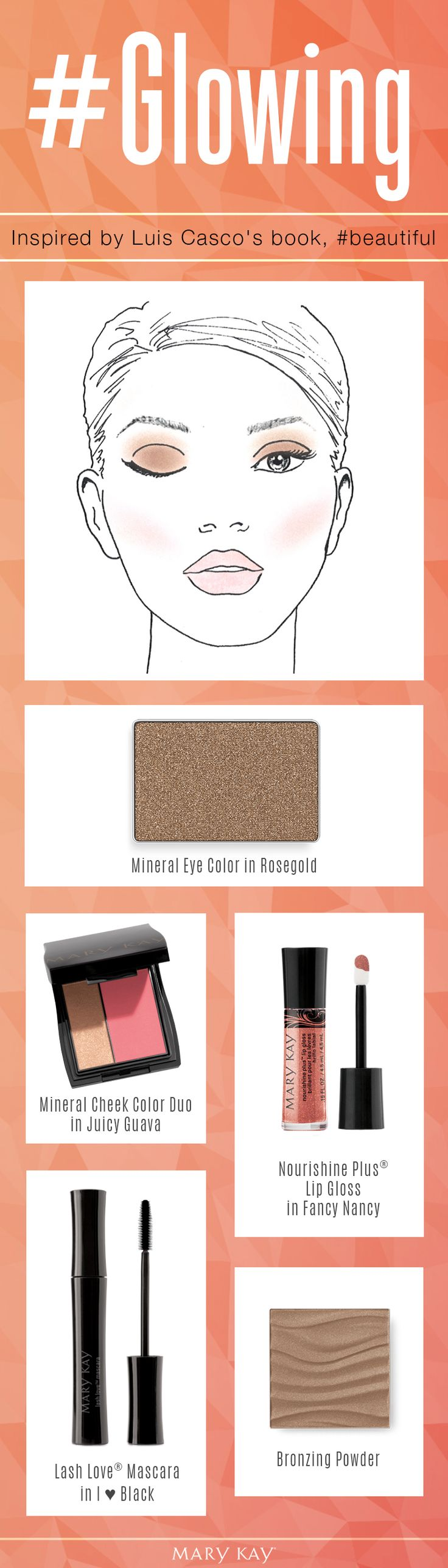 Get up and glow! These five products create a natural, sun-kissed makeup look, even if it's been too many months since you've been to the beach. | Mary Kay