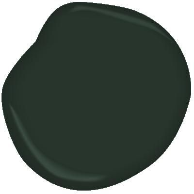 Benjamin Moore Essex Green. walls in entry stairs. Semi-Gloss