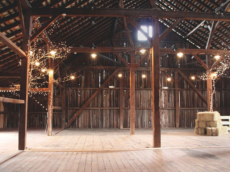 The Inside Of Historic Penn Farm Now Open For Barn Weddings In Delaware Were Keeping Decor Super Simple So Each Couple Can Style It With Their Own