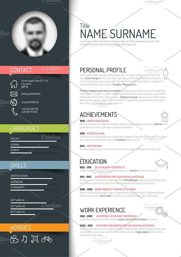 Resume Template With Images Free Resume Template Word