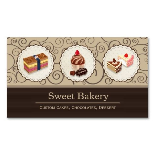 The 275 best chocolate business cards images on pinterest business sweet bakery store custom cakes chocolates dessert business card colourmoves