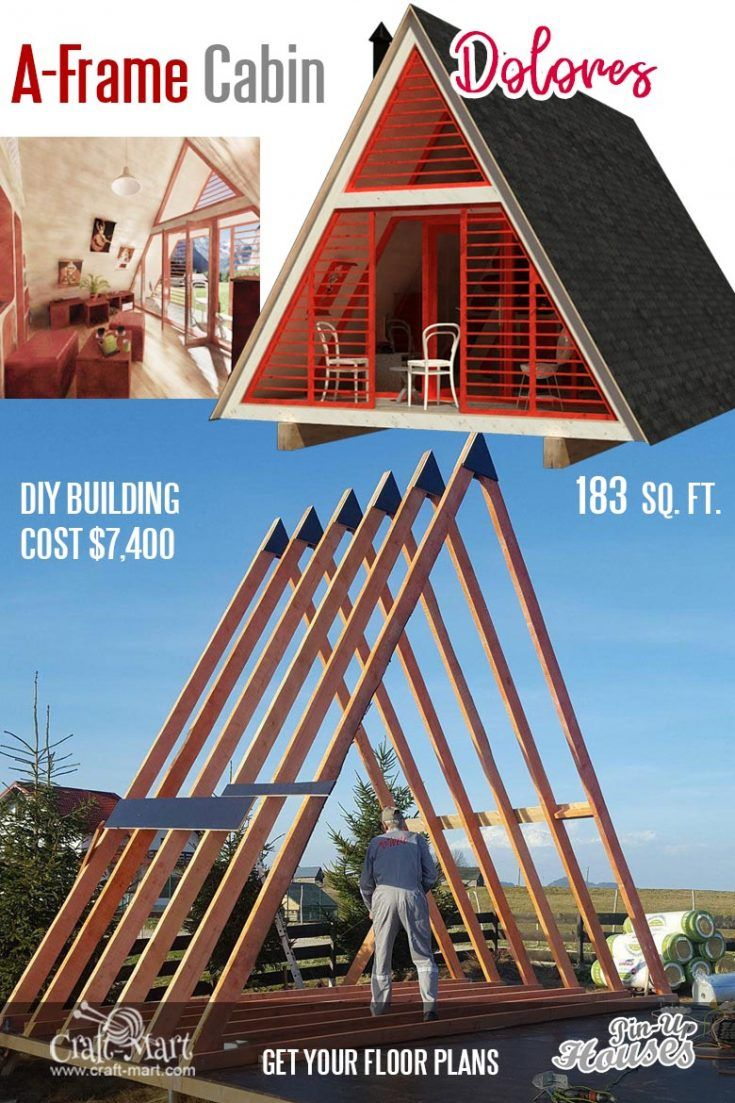 A Frame Cabin Plans Dolores With Images Small House Floor
