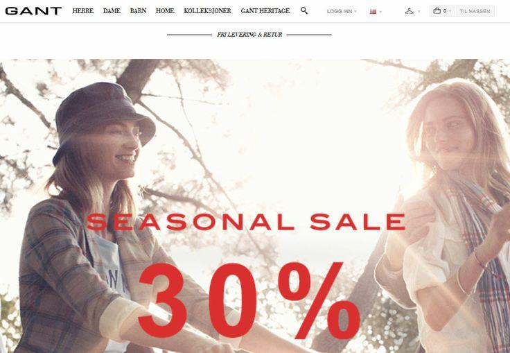 Gant klær nettbutikk - Kjøp klær hos Gant.no For Damer, Herrer og Barn