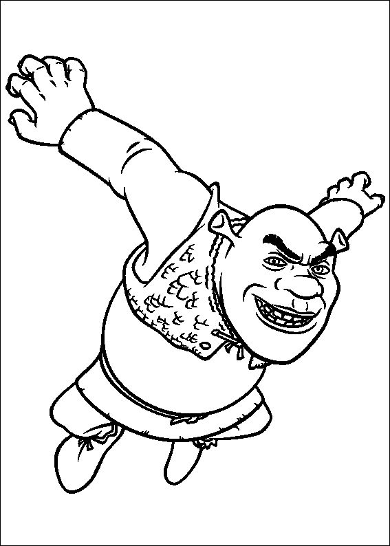 18 best Shrek Coloring Pages images on Pinterest Shrek
