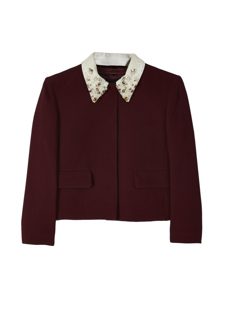 Pin for Later: This Is Your Chance to Shop Olivia Palermo's Wardrobe  Lupita Nyong'o: Miu Miu sequined collar top