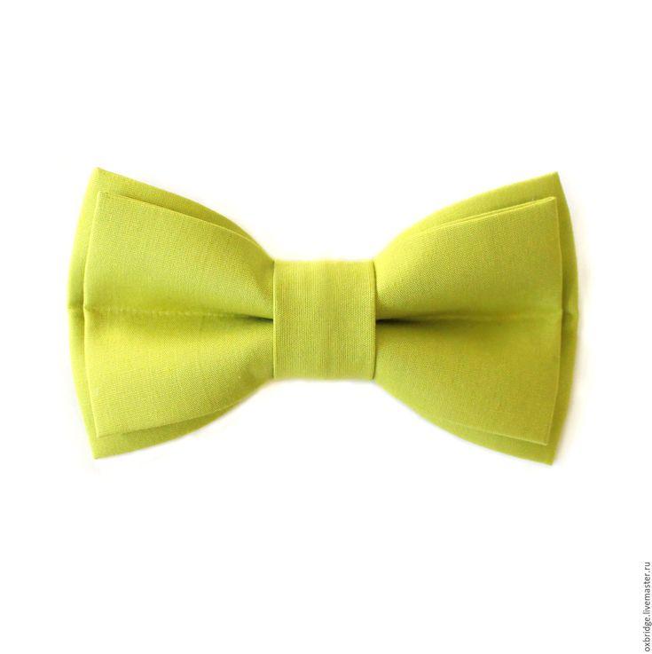 Купить Галстук бабочка Грязный лимон / Бабочка галстук светло-зеленый - галстук бабочка