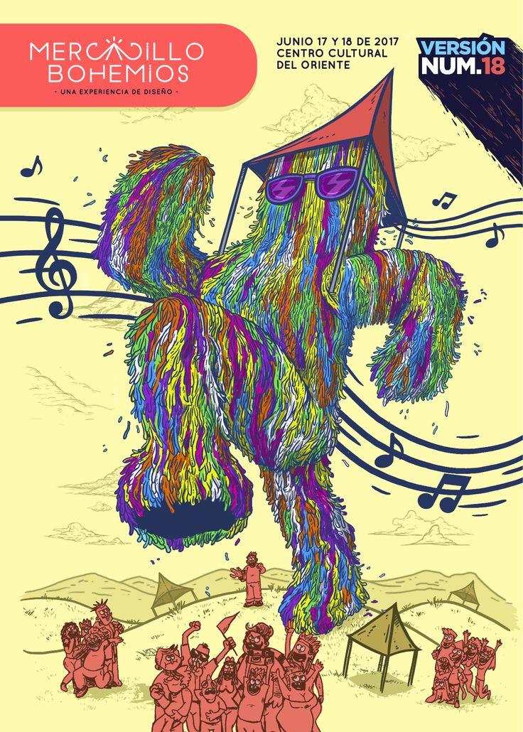 Monster illustration / Cliente: Mercadillo Bohemios 2017