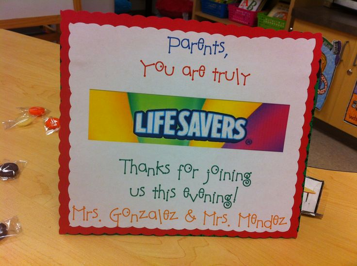 Open House Display for Parents--You are Truly Lifesavers!
