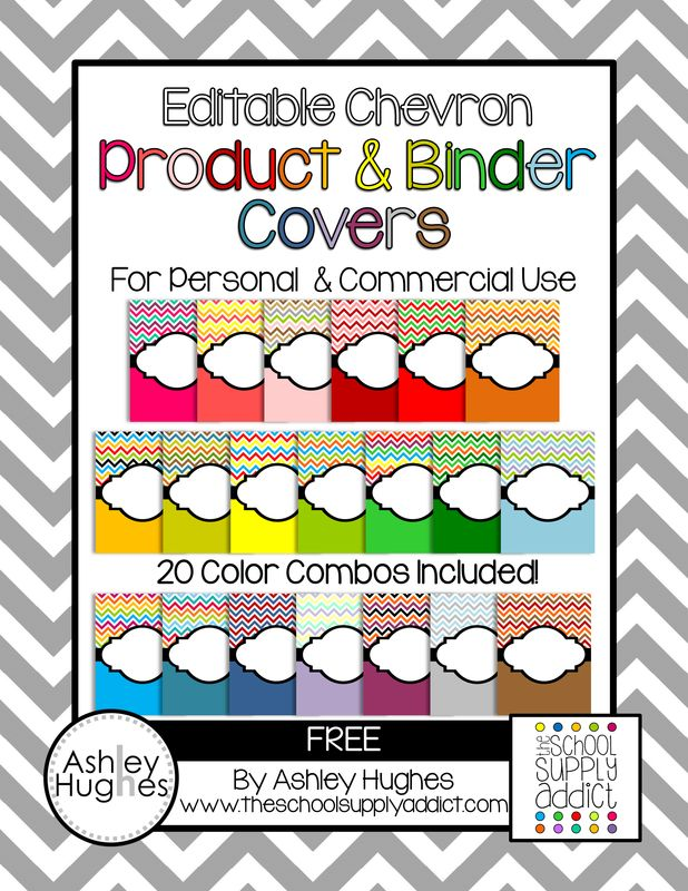{free} Editable Chevron Product & Binder Covers!
