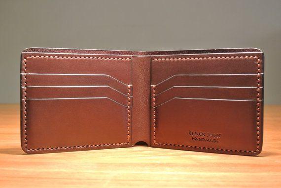 Leather Wallet Mens Leather Wallet Handmade by BlackSheepLeatherUK