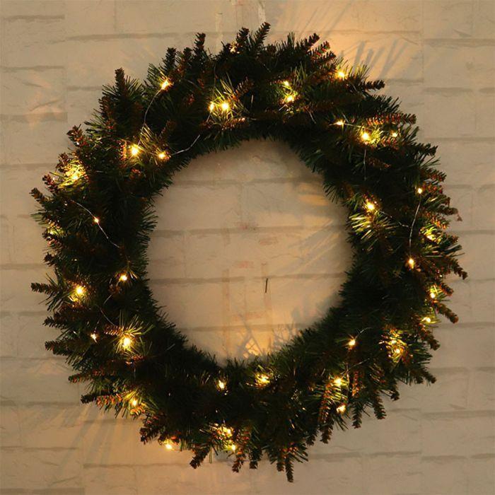 Led Pre Lit Christmas Wreath Wreath Christmaswreath With Images Christmas Wreaths With Lights Christmas Wreaths Holiday Wreaths Christmas