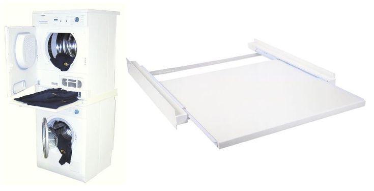 Zwischenbausatz Rahmen für Trockner auf Waschmaschine mit Ausziehlade