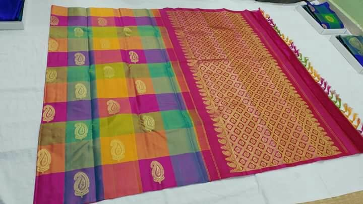 Colour full  Kanchipuram silk sarees online shopping in  Kanchi Mahalakshmi Silks.  Whatsapp: 9941653218  www.kanchipuramsilkwholesale.com   #kanchipuramsaree #onlinesaree #shopping #kms #wedding #wholesale #manufacture #supplier #silks