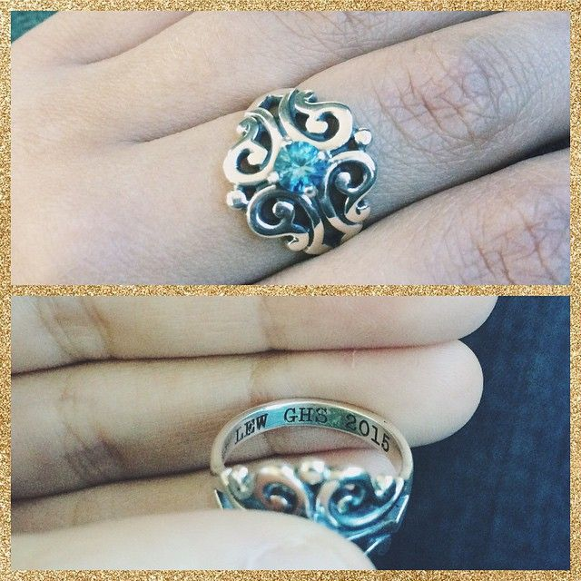 Our Spanish Lace Ring makes a beautiful class ring! #JamesAvery
