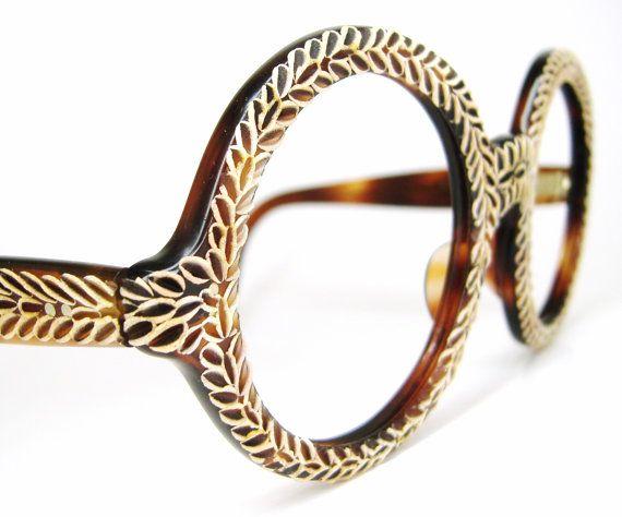 Vintage French 60s Round Eyeglasses Frame