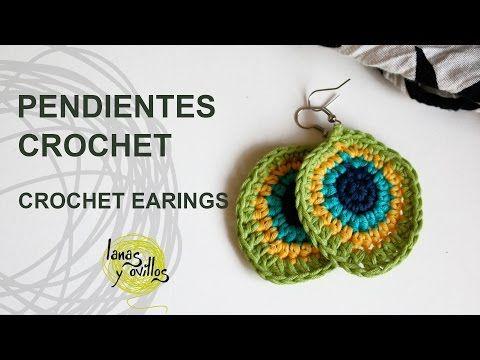 Tutorial Pendientes o Aros Crochet o Ganchillo, My Crafts and DIY Projects                                                                                                                                                                                 Más
