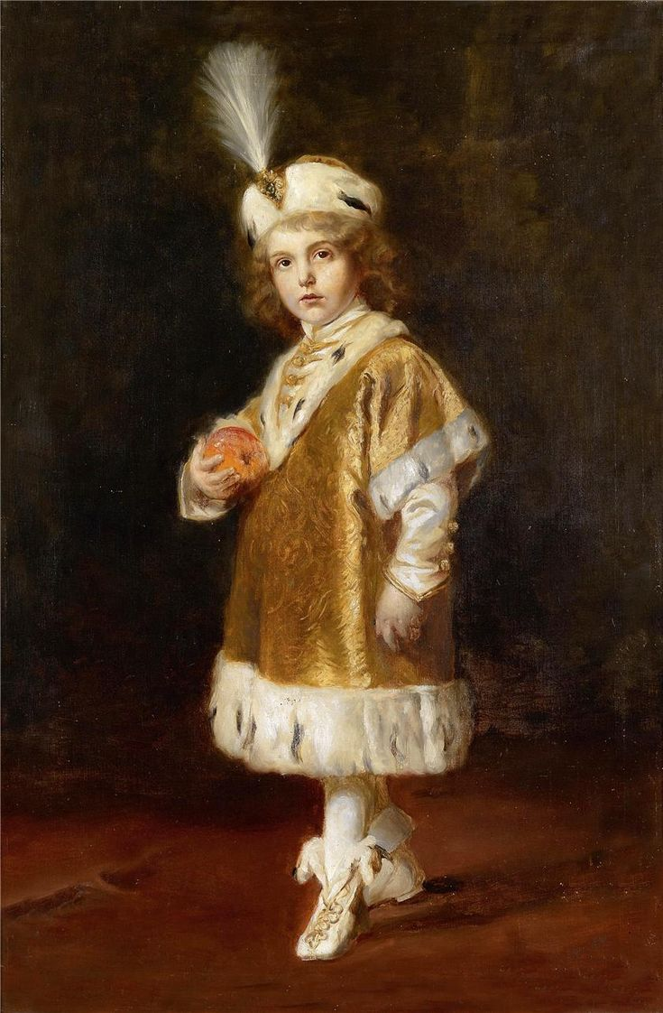 Crown Prince Otto von Hapsburg was the last Crown Prince of Austria-Hungary from 1916 until the dissolution of the empire in 1918.....here he is four years old in the costume he wore to his parents coronation as King and Queen of Hungary in 1916.