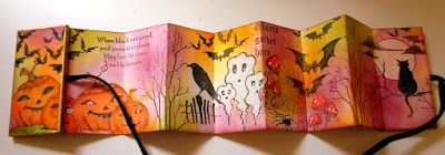 Chocolate Baroque Design Team: Spooky Stampbord Domino Book (posted by Claire)