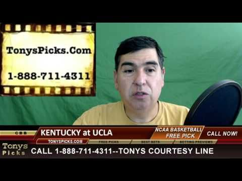 Kentucky Wildcats vs. UCLA Bruins Pick Prediction NCAA College Basketbal...