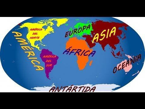 Los continentes y Oceanos.que es un continente y cuales son - YouTube